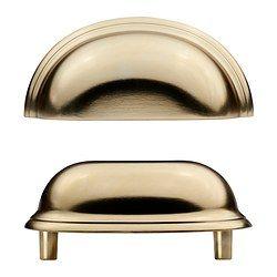 Ikea Möbelgriffe fågleboda handle brass color length 3 3 8 width 1 1 2 depth