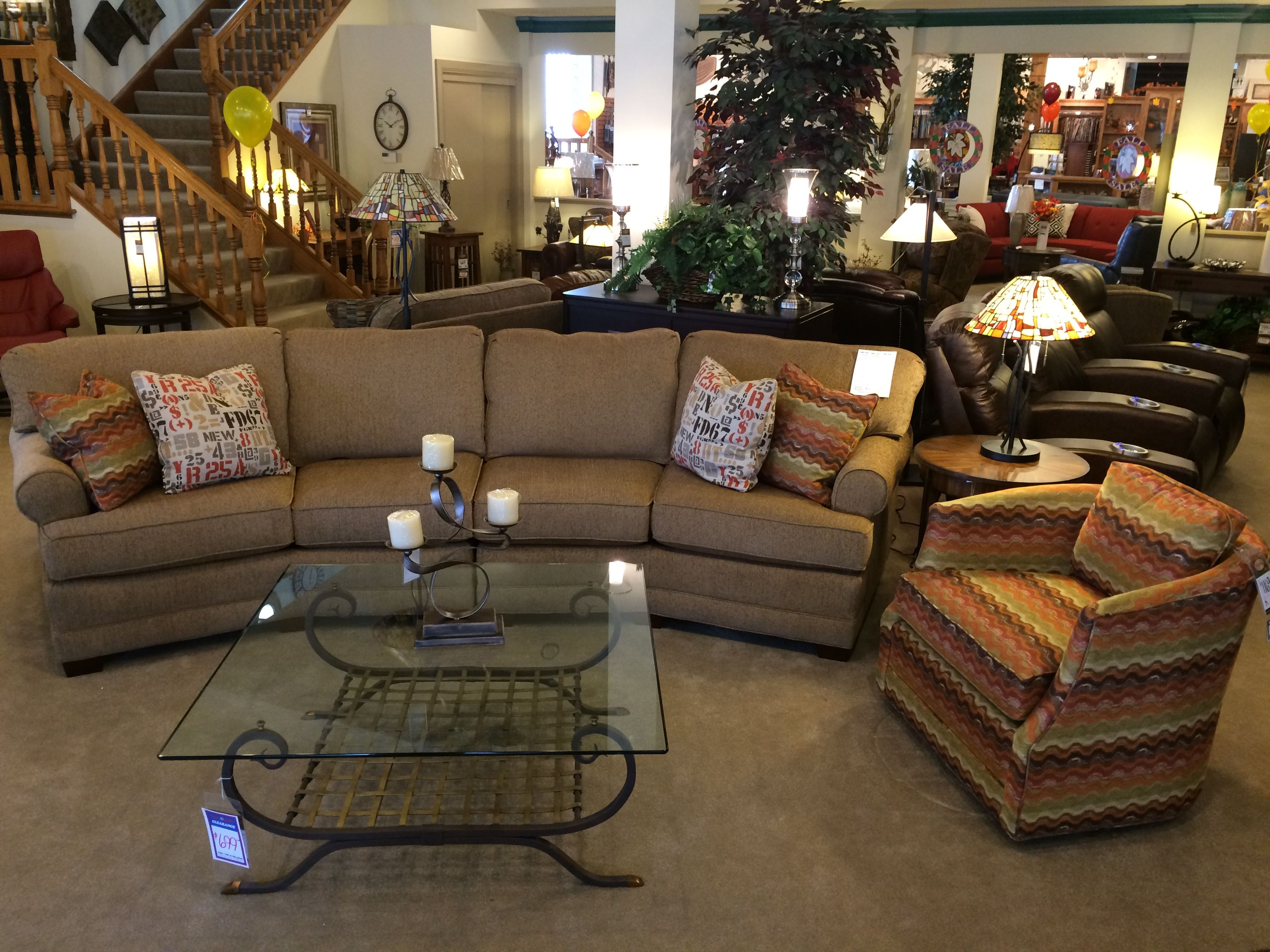 Large Conversation Sofa And Patterned Swivel Chair From Temple Furniture Temple Furniture Furniture Conversation Sofa