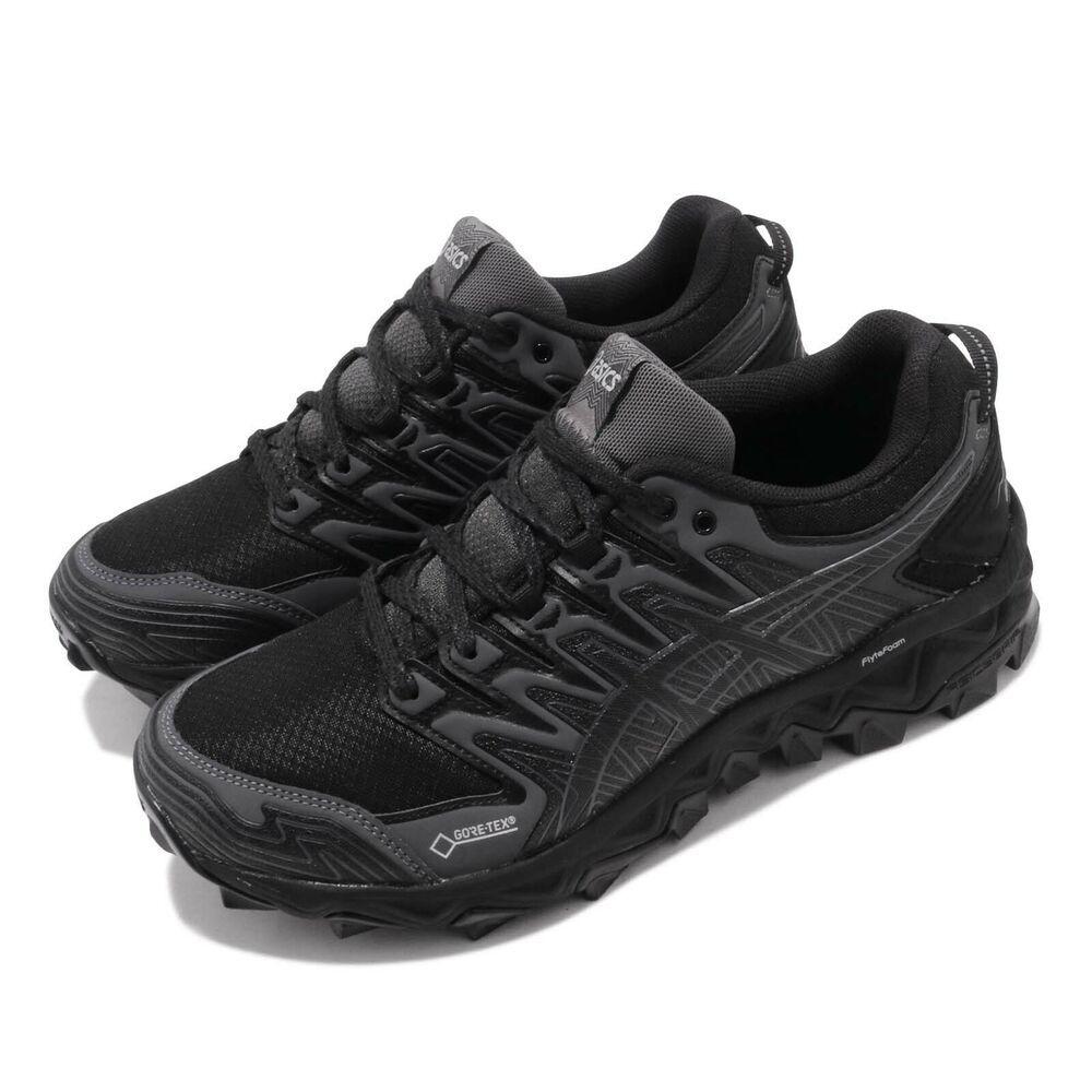 2fe3bfe0 Asics Gel Fujitrabuco 7 GTX Gore-Tex Black Dark Grey Women Shoes ...