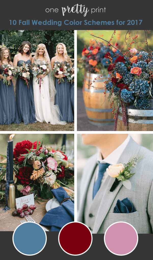 10 Amazing Wedding Color Palettes For Fall Wedding Colors Fall Wedding Colors Blue Fall Wedding
