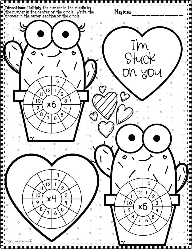 3 Oa 7 Valentine S Day Multiplication Wheels Multiplication Multiplication Wheel Winter Math [ 1056 x 816 Pixel ]