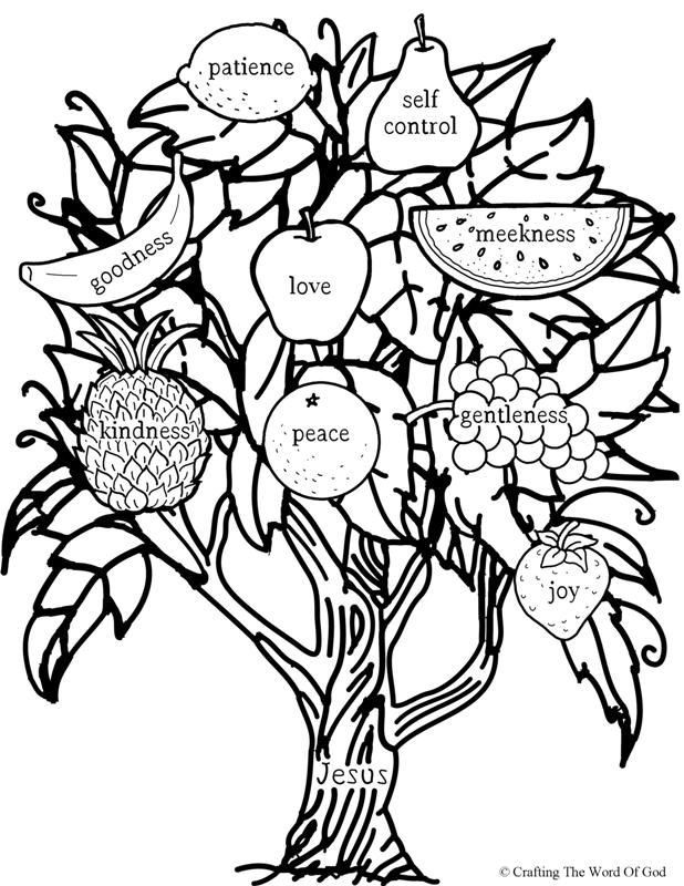 You Will Bear Fruit- Coloring Page Sunday School Coloring Pages, Fruit  Coloring Pages, Bible Crafts