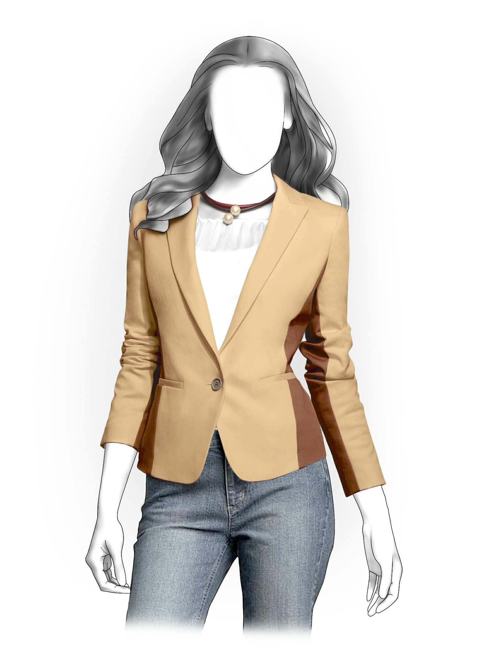 Women Blazer Patterns : women, blazer, patterns, Classical, Jacket, Sewing, Pattern, #4162, Sewing,, Patterns, Women,