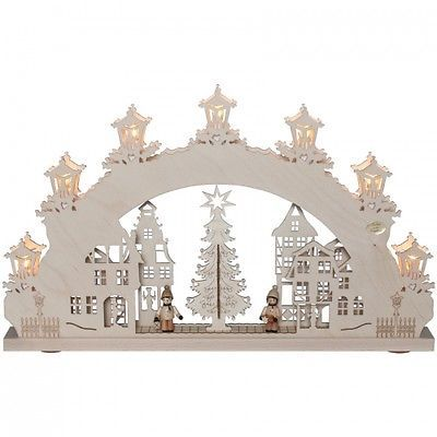 Original erzgebirge weihnachtsleuchter schwibbogen for Weihnachtsideen dekoration