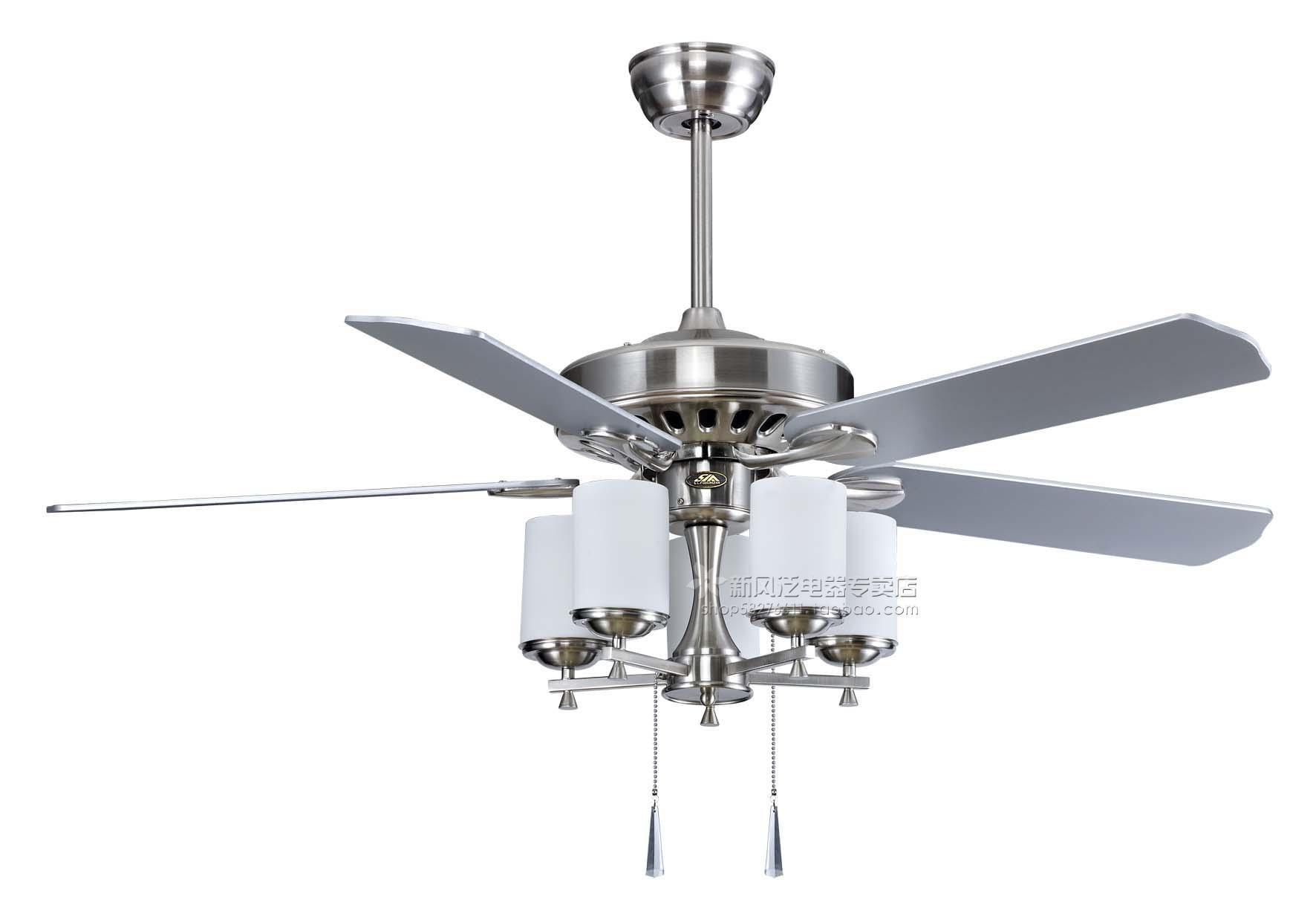 Ceiling Fans Silver Ceiling Fan Lights Mute Belt Light Fan Lamp