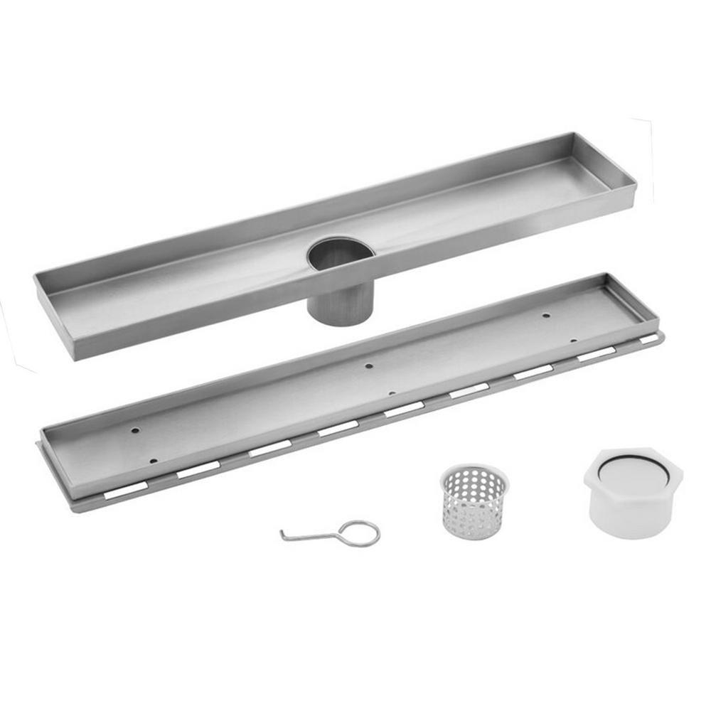 Cahaba 26 In Stainless Steel Tile Insert Linear Shower Drain