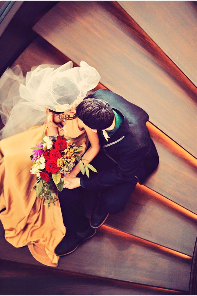 great staircase shot via StyleUnveiled.com / Andaz Maui at Wailea / Jewel Toned Wedding Ideas / Tamiz Photography