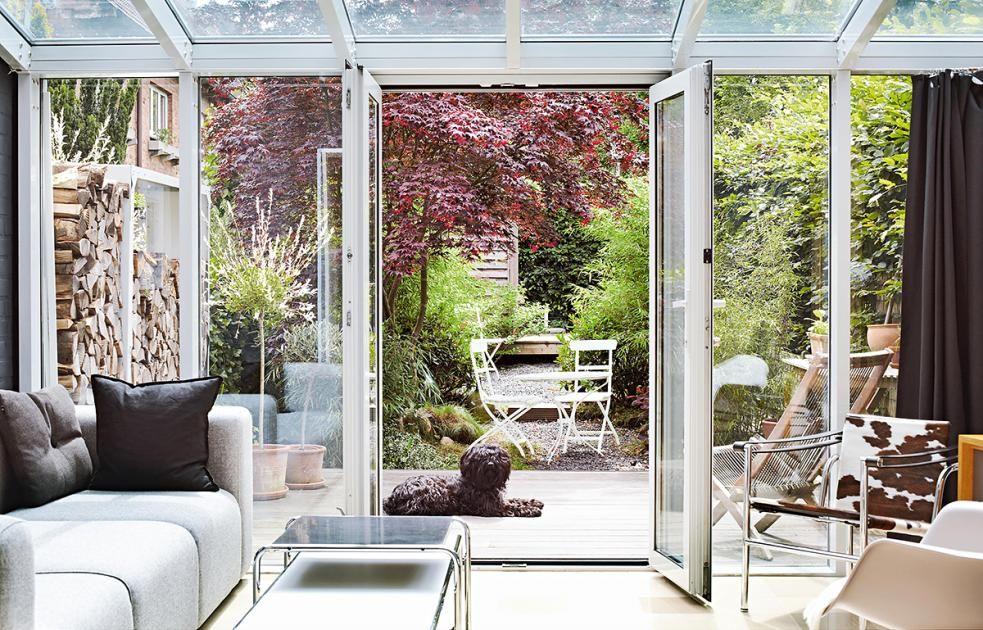 Garten Schöner Wohnen umbau reihenhaus als modernes wohnhaus wintergarten öffnet das