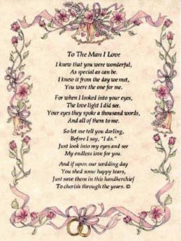 Poems Of Love To A Man Bh117 Quot To The Man I Love Quot From