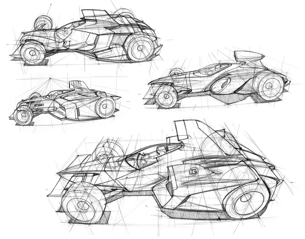 F1 Sketches Design