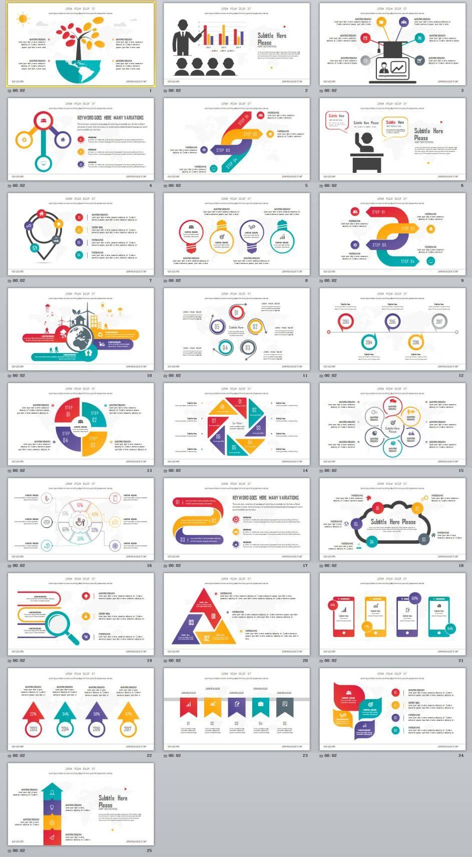 25+ best infographic design powerpoint templates | 2018 best, Modern powerpoint