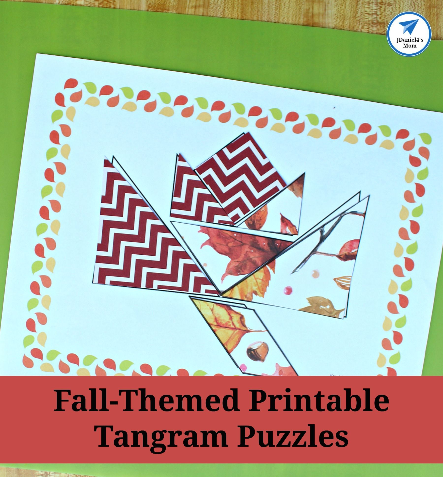 Fall Themed Printable Tangram Puzzles Leaf And Acorn