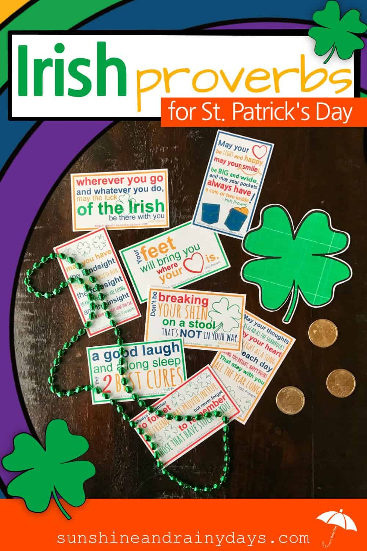 Irish Proverbs Printable For St. Patrick's Day Irish