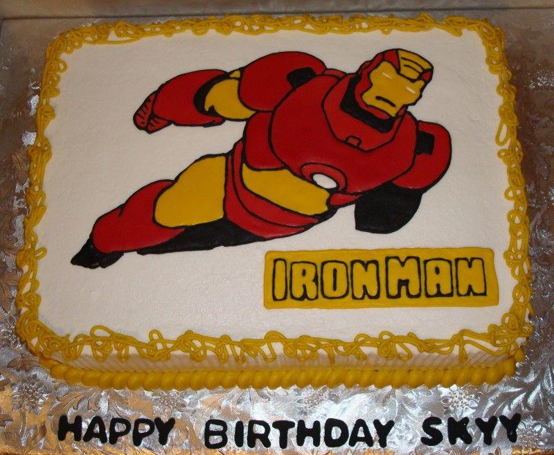 Iron Man Cake Iron Man Party Pinterest Iron Man Cakes Man