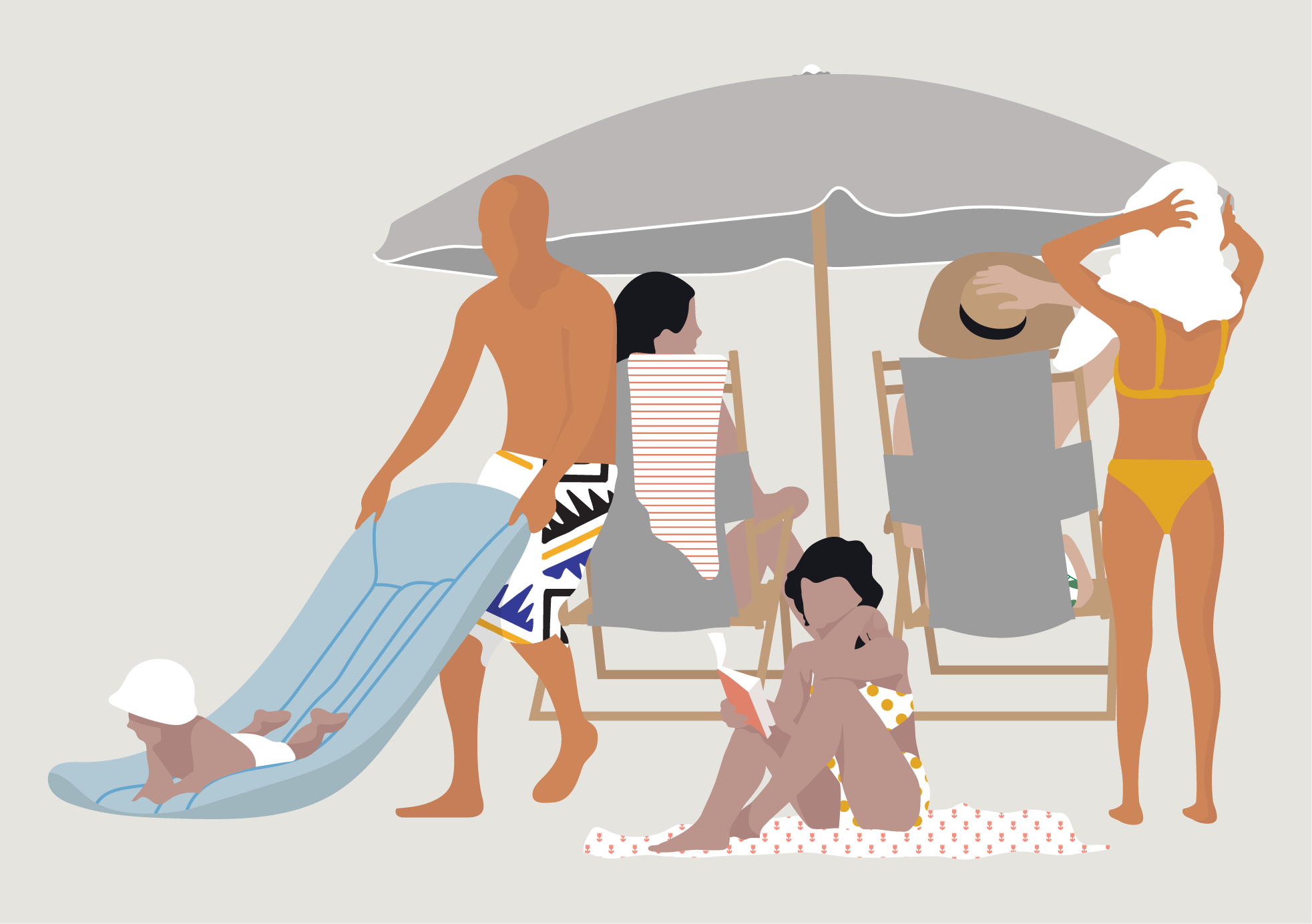 Flat Vector Beach People Illustrations For Architecture And Interior Design Ai Pdf Png People Toffu Co Architecture Desenhos Humanizacao Desenho Grafico