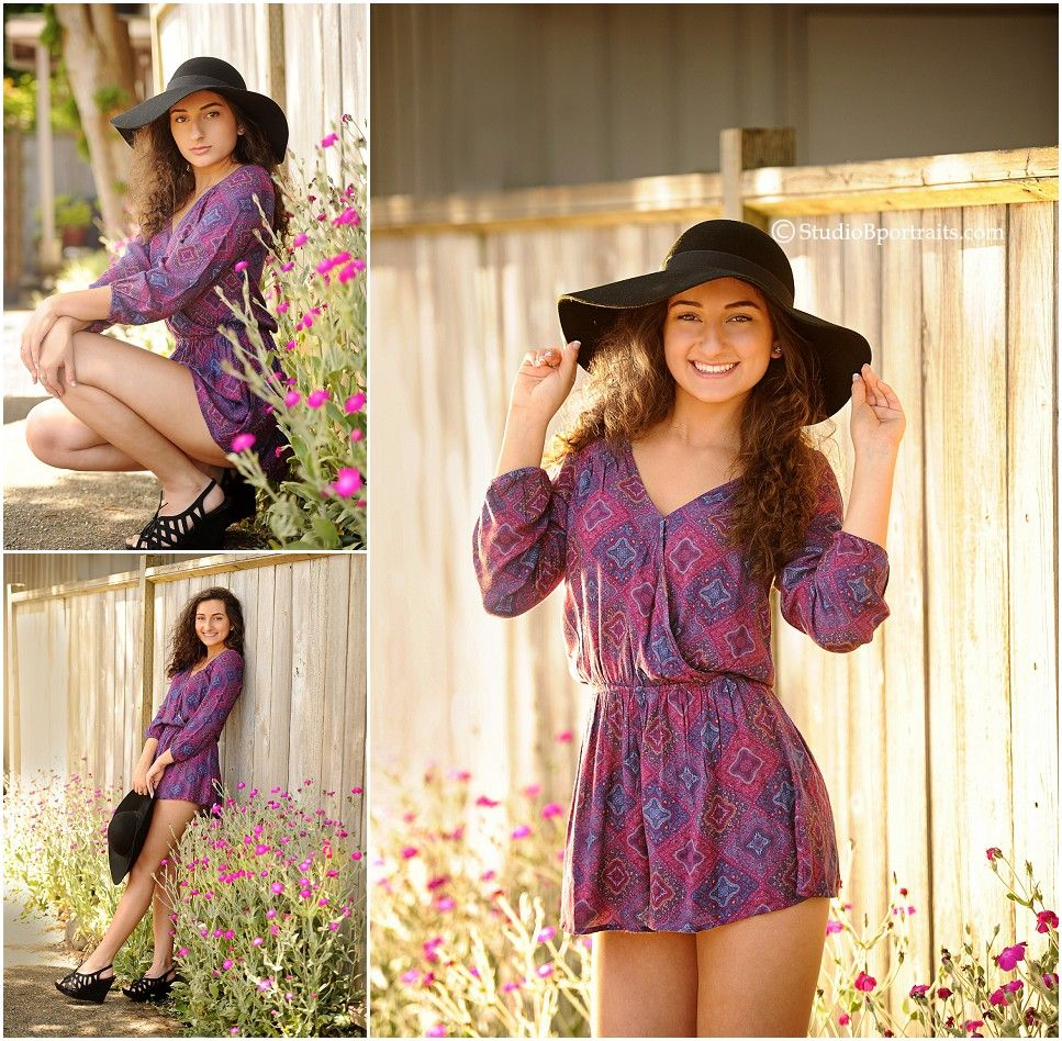 Image result for senior picture with floppy hat Girl