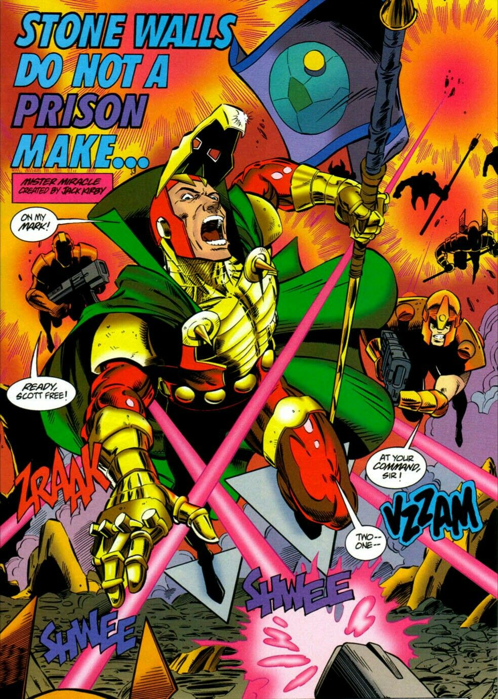 New Gods Mister Miracle playing capture the flag in New Genesis ...