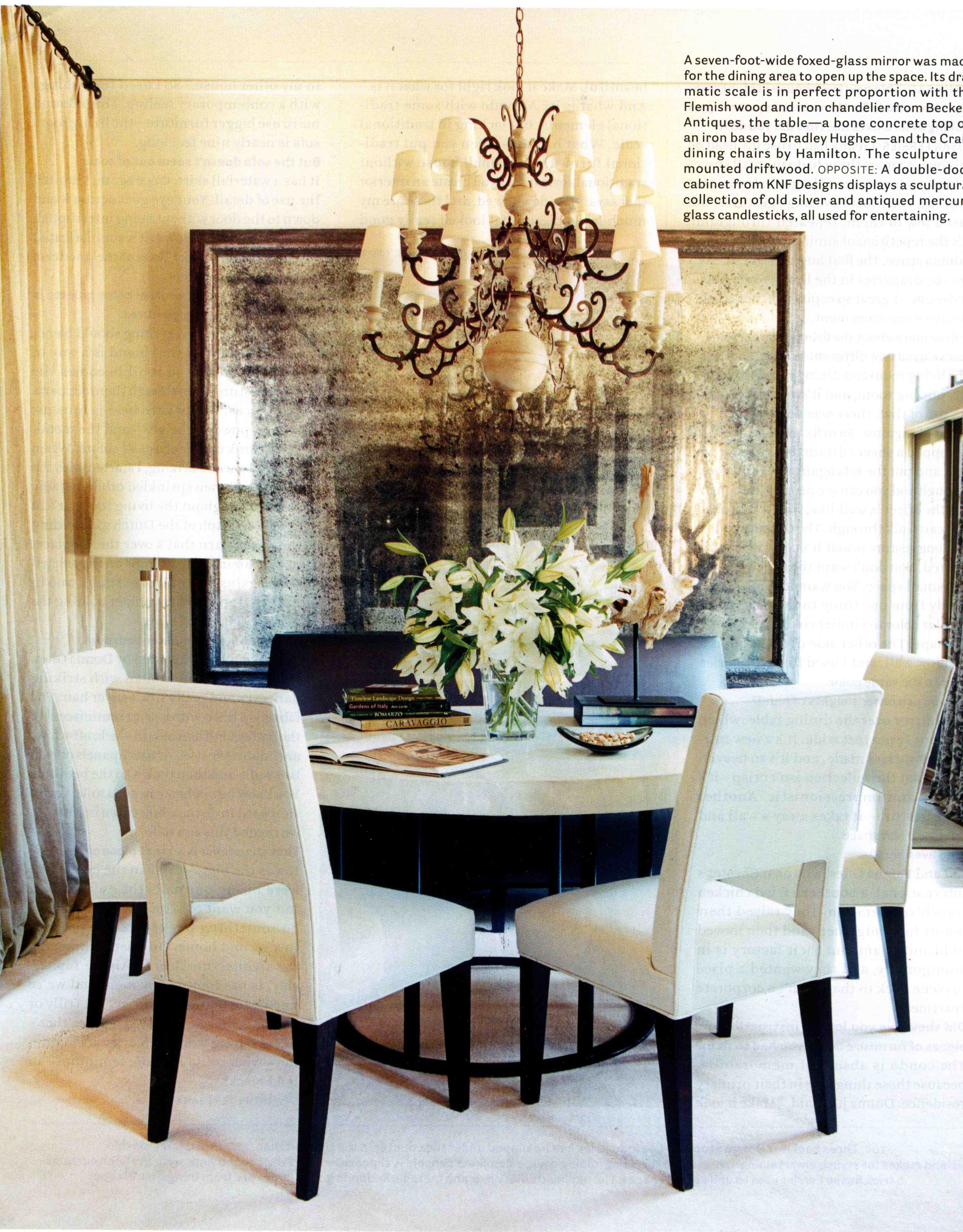 I Love A Round Table In A Dining Room Deco  Pinterest Magnificent Dining Room Mirrors Modern Review