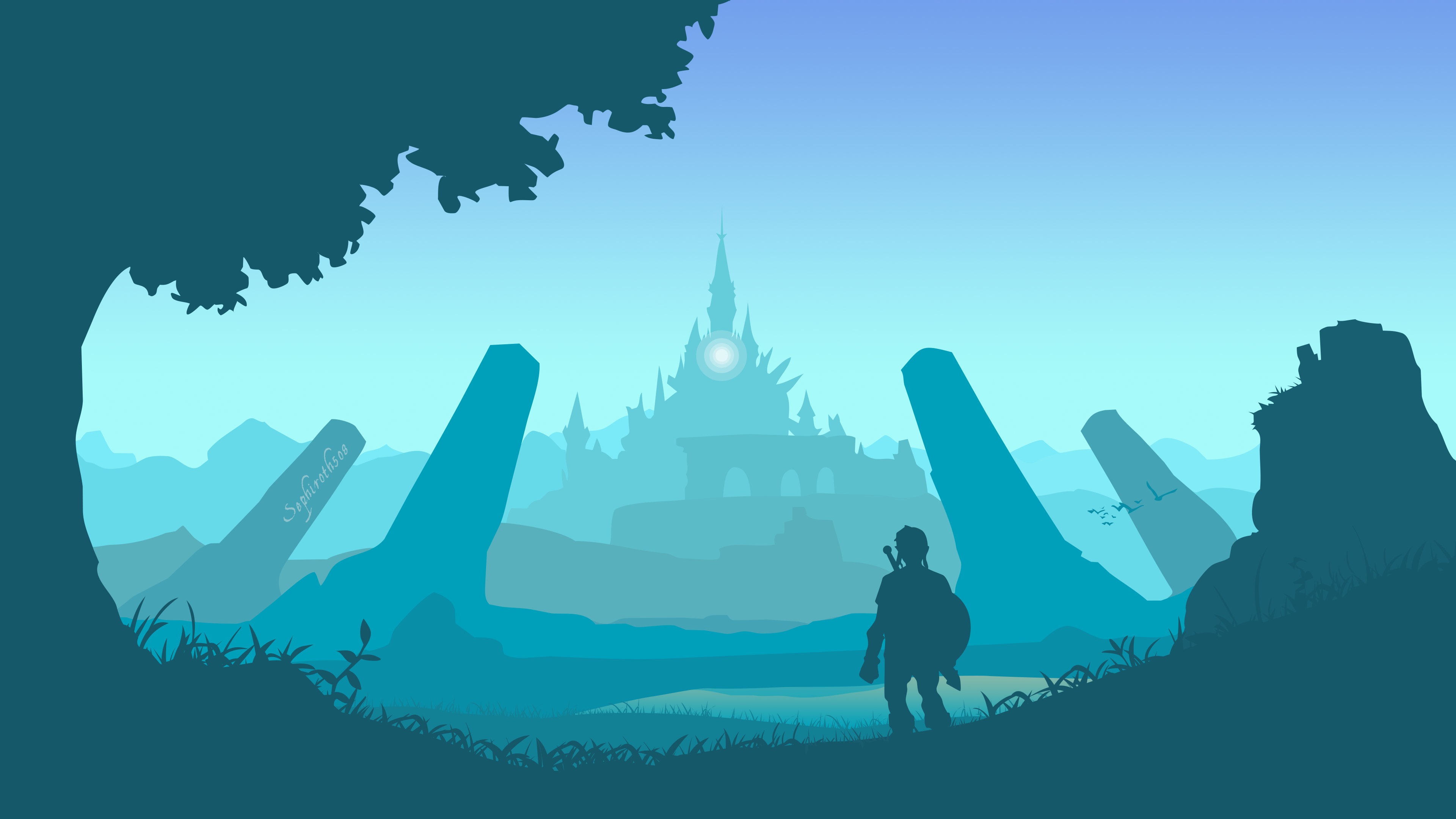 Made A Botw Vector Wallpaper 4k Art Wallpaper Legend Of Zelda Legend Of Zelda Breath
