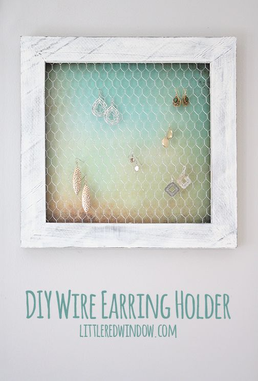Wire Earring Holder DIY | Simple earrings, Wire earrings and Organizing