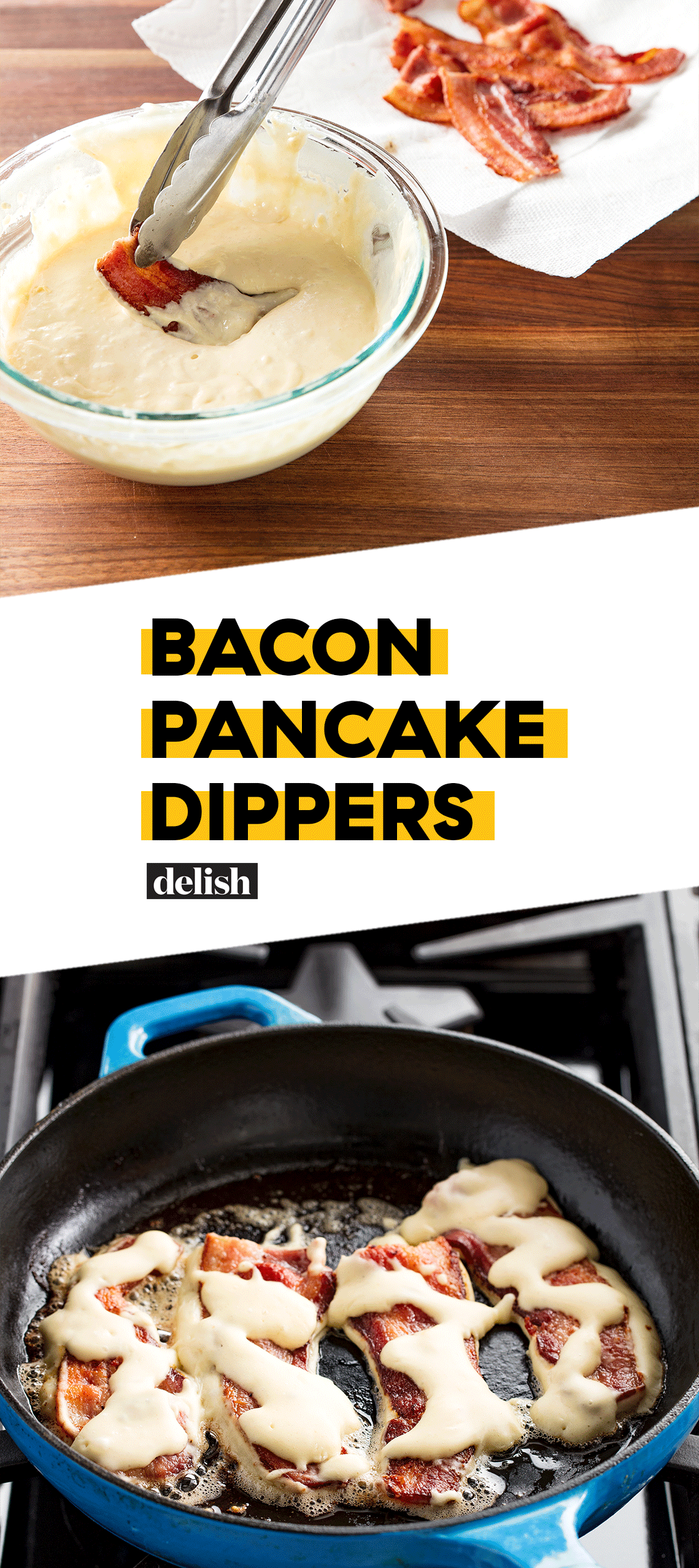 Bacon Pancake Dippers are the perfect combo of sweet and salty.