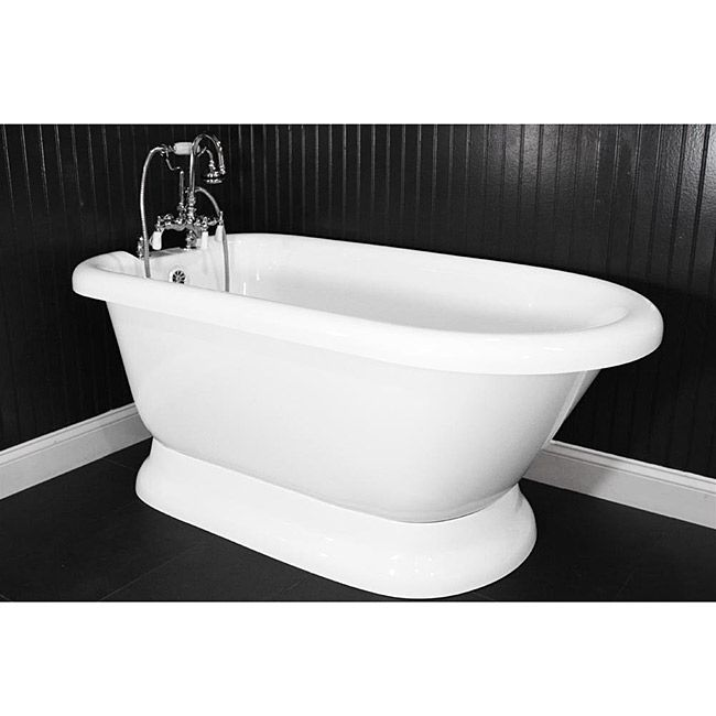 56 inch freestanding tub. Classic Style PedestalWeight Empty 129 PoundsChrome Edwardian Tub Amusing 56 Inch Freestanding Images  Best inspiration home