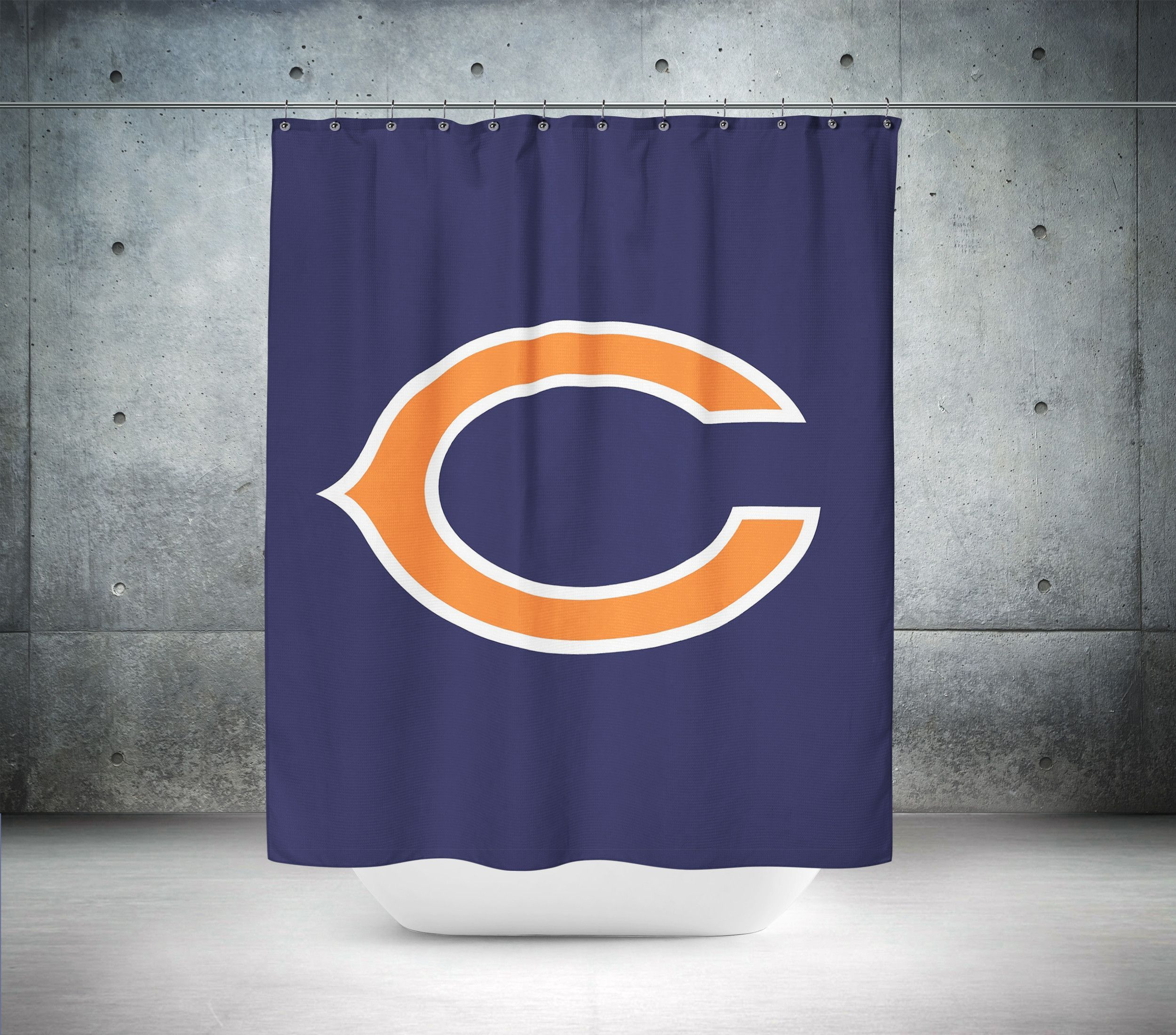 Chicago Bears Nfl Shower Curtain Nfl Shower Curtains Curtains