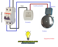 Esquema Electrico Timbre Esquemas Electricos Diagrama De Instalacion Electrica Electricidad