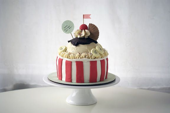 Happy Ice Cream Sundae - by coco cake