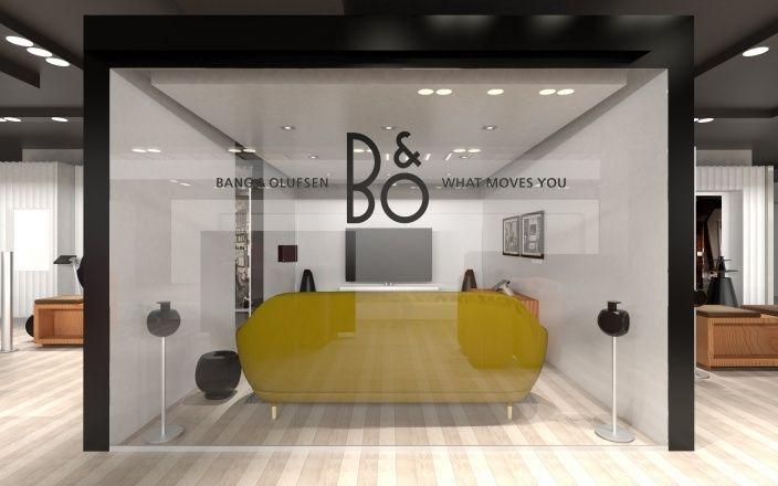 Innovative interior design for bang olufsen attention for Innovative interiors