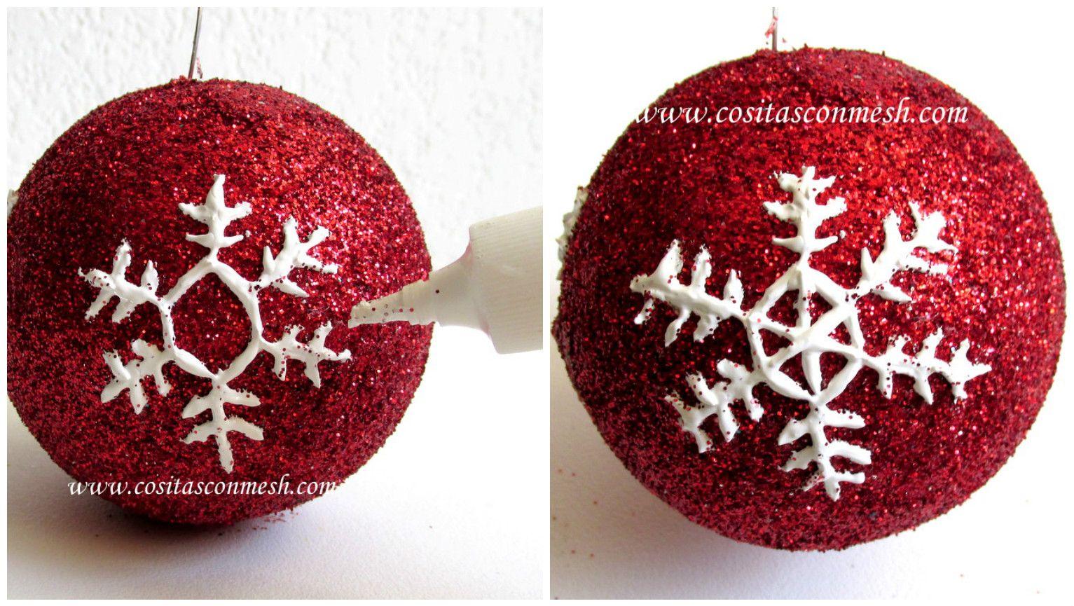 Pin De Maria Elena En Navidad Como Hacer Esferas Navideñas