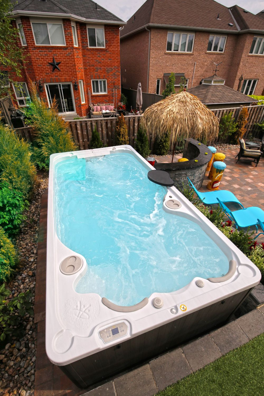 The 16fX AquaTrainer swim spa from Hydropool Hot Tubs and Swim Spas ...