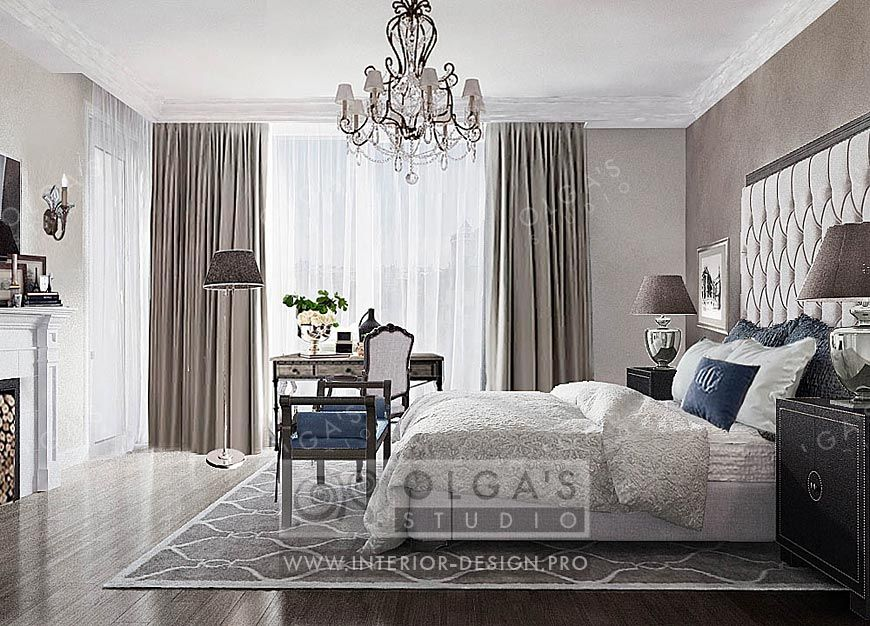 Bedroom Design In The Neoclassical Style Interior Designpro
