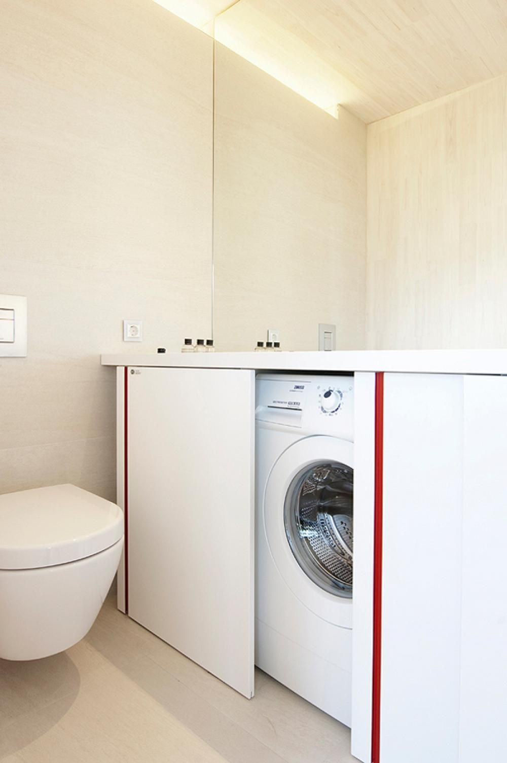 Laundry Room Small Space Merge With Bathroom Fantastic Minimalist ...
