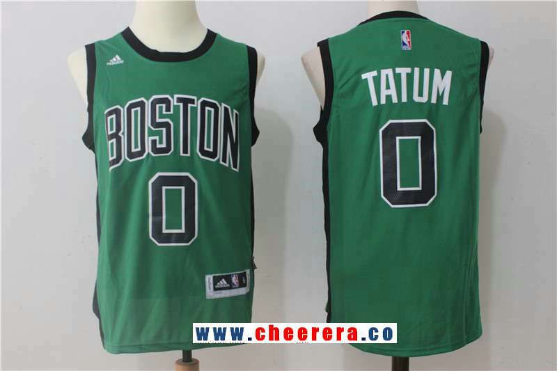 d9a341954c0 Men s Boston Celtics  0 Jayson Tatum Green with Black Stitched NBA adidas  Revolution 30 Swingman