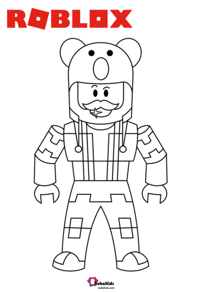 Roblox Games Characters Series Coloring Pages 005 Halloween Coloring Pages Cartoon Coloring Pages Cute Coloring Pages