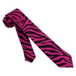 Pink zebra tie for the groom :)