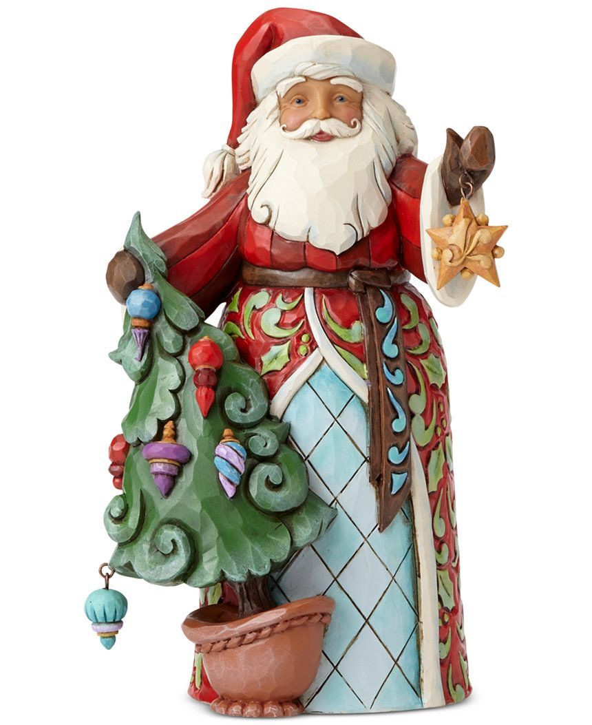 jim shore santa with tree collectible figurine, only at macy's