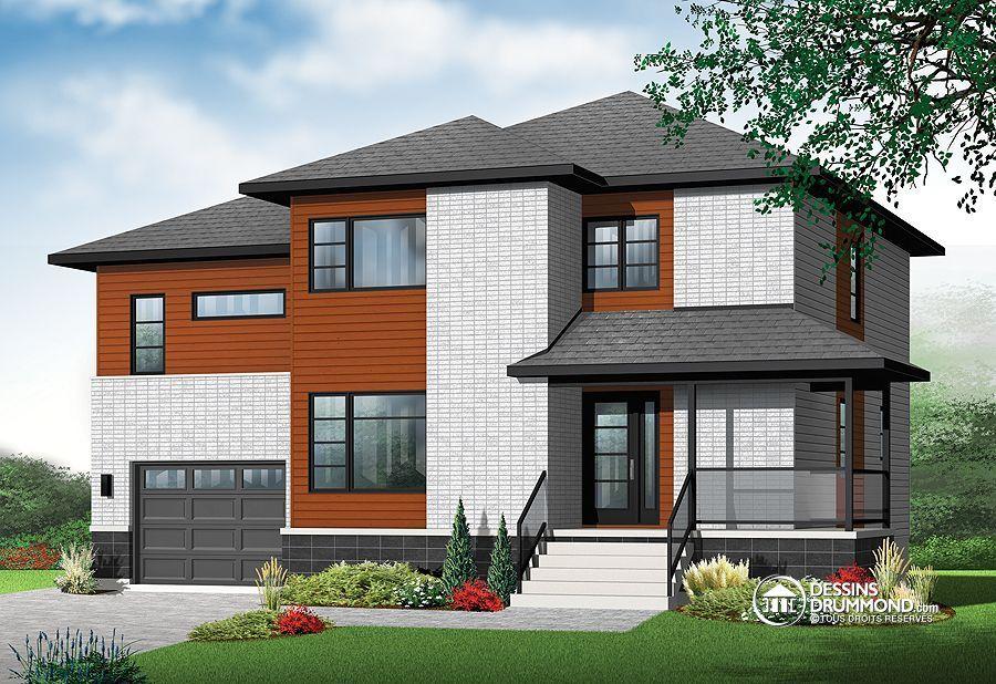 Plan de maison unifamiliale w3875 v1 dessinsdrummond for Maison eplans