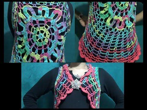 Blusa de medio circulo pt 1 de 2 a crochet - fácil y rápido ...
