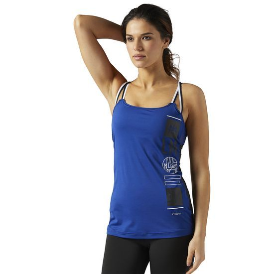 0d4e1e6c94413 Reebok - LES MILLS ACTIVCHILL Tank With Built In Padded Sports Bra  Get the  best