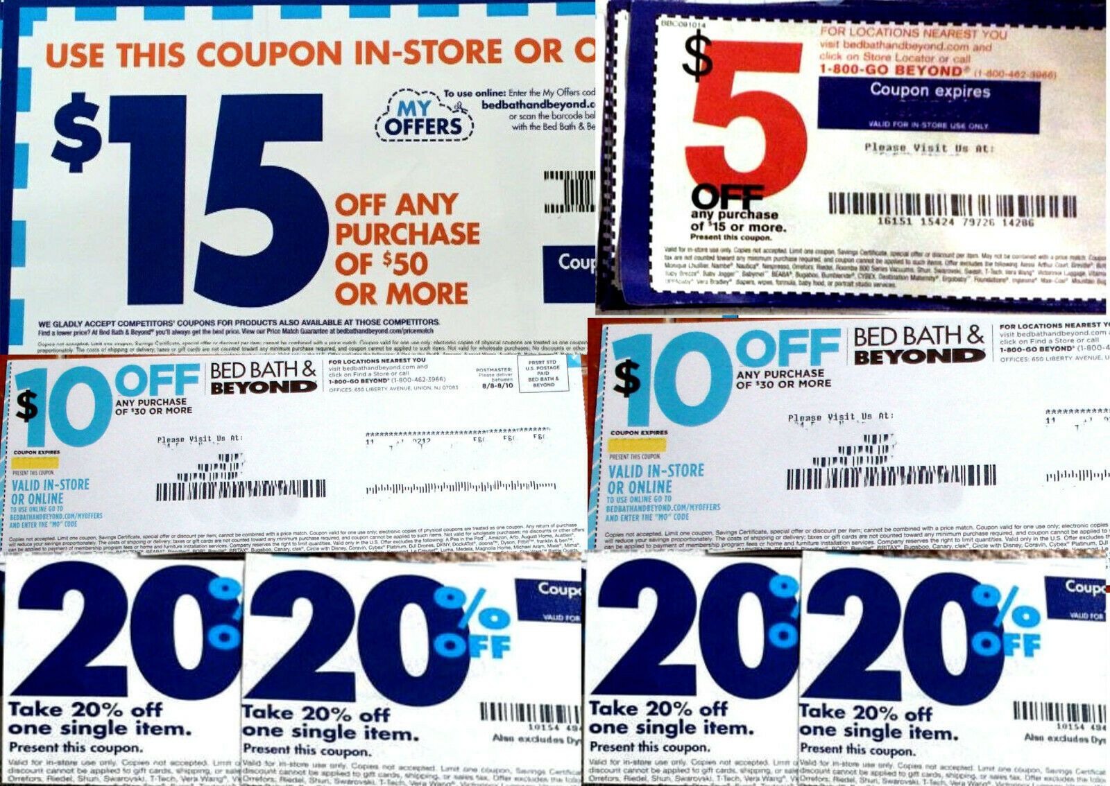 8 Bed Bath Beyond Coupons 2 10 Off 30 1 15 Off 50 1 5 Off