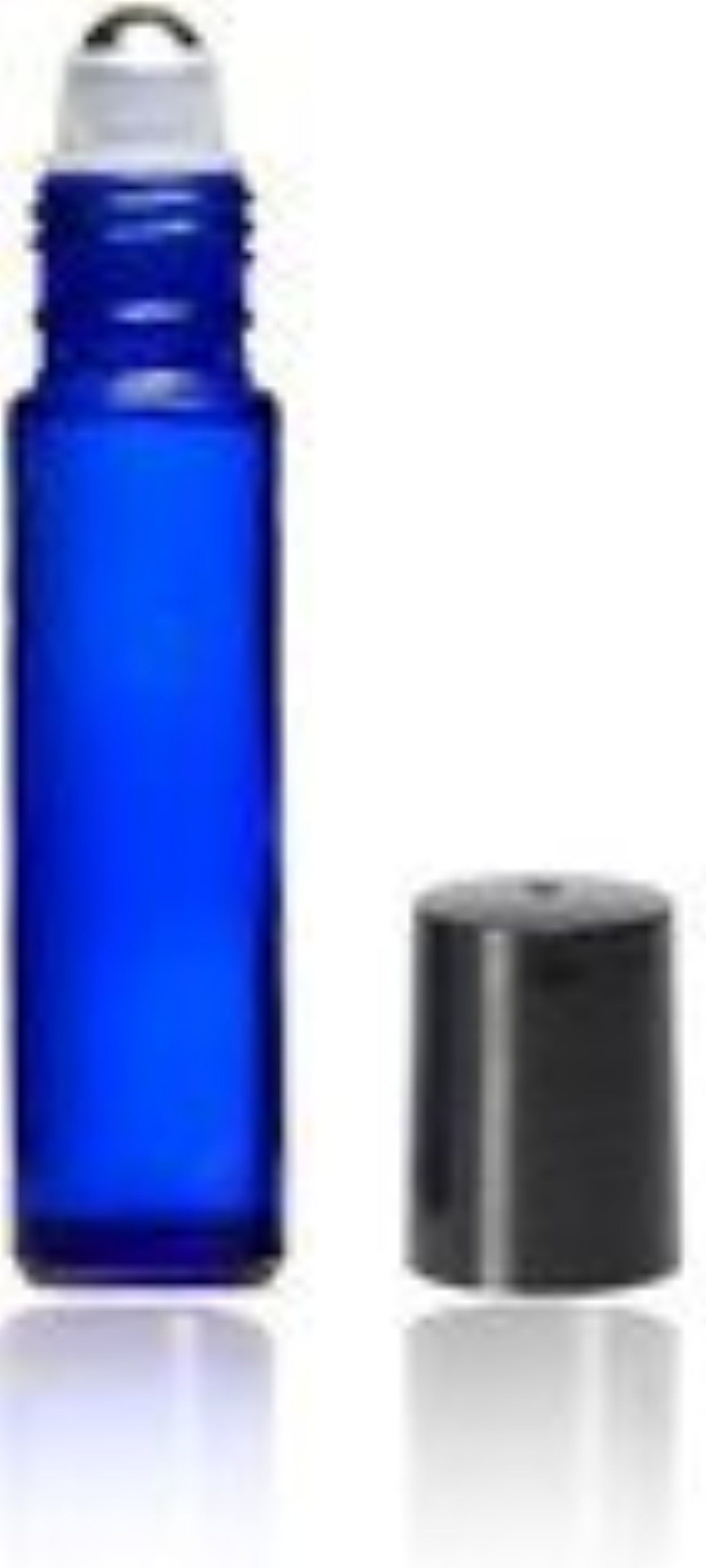 Your Oil ToolsTM 10 Ml Blue Glass Roller Bottle with Stainless Rollers (Qty 5) by Your Oil ToolsTM -- Awesome products selected by Anna Churchill