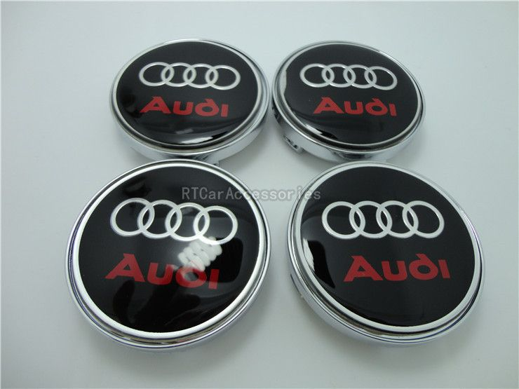 Mm Audi Wheel Center Caps Hub Caps Cover Car Emblem Audi Logo - Audi wheel center caps