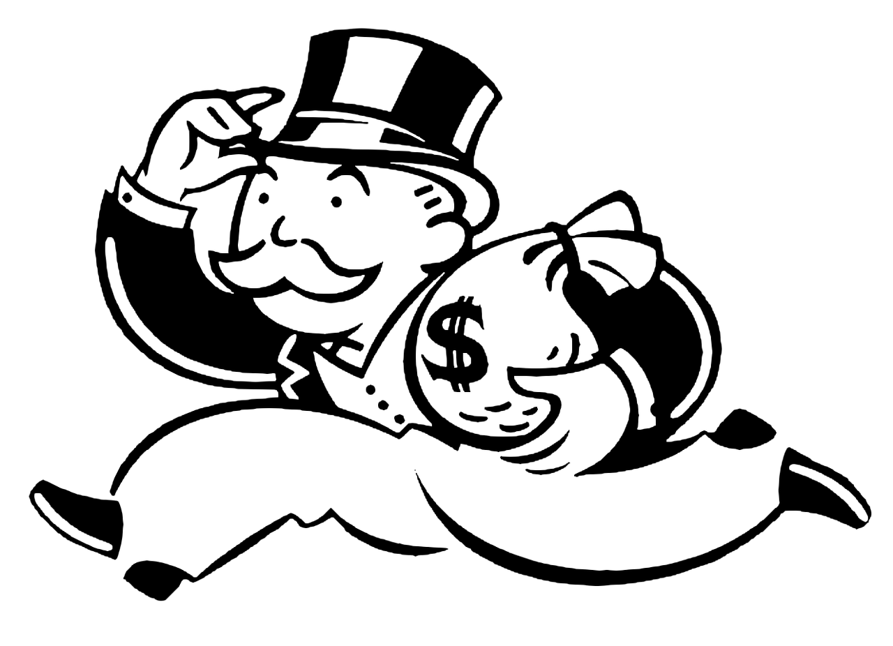 mr monopoly is a great example of the people at the top of the