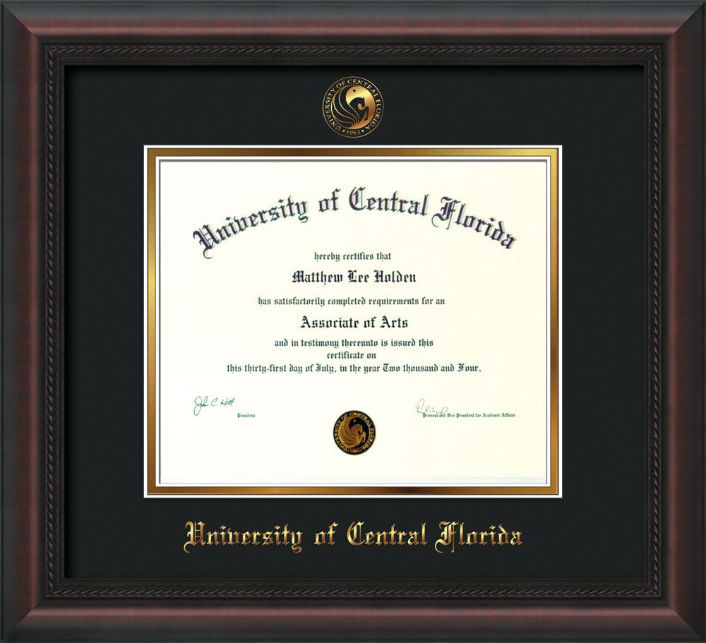 University of Central Florida Diploma Frame Mahogany