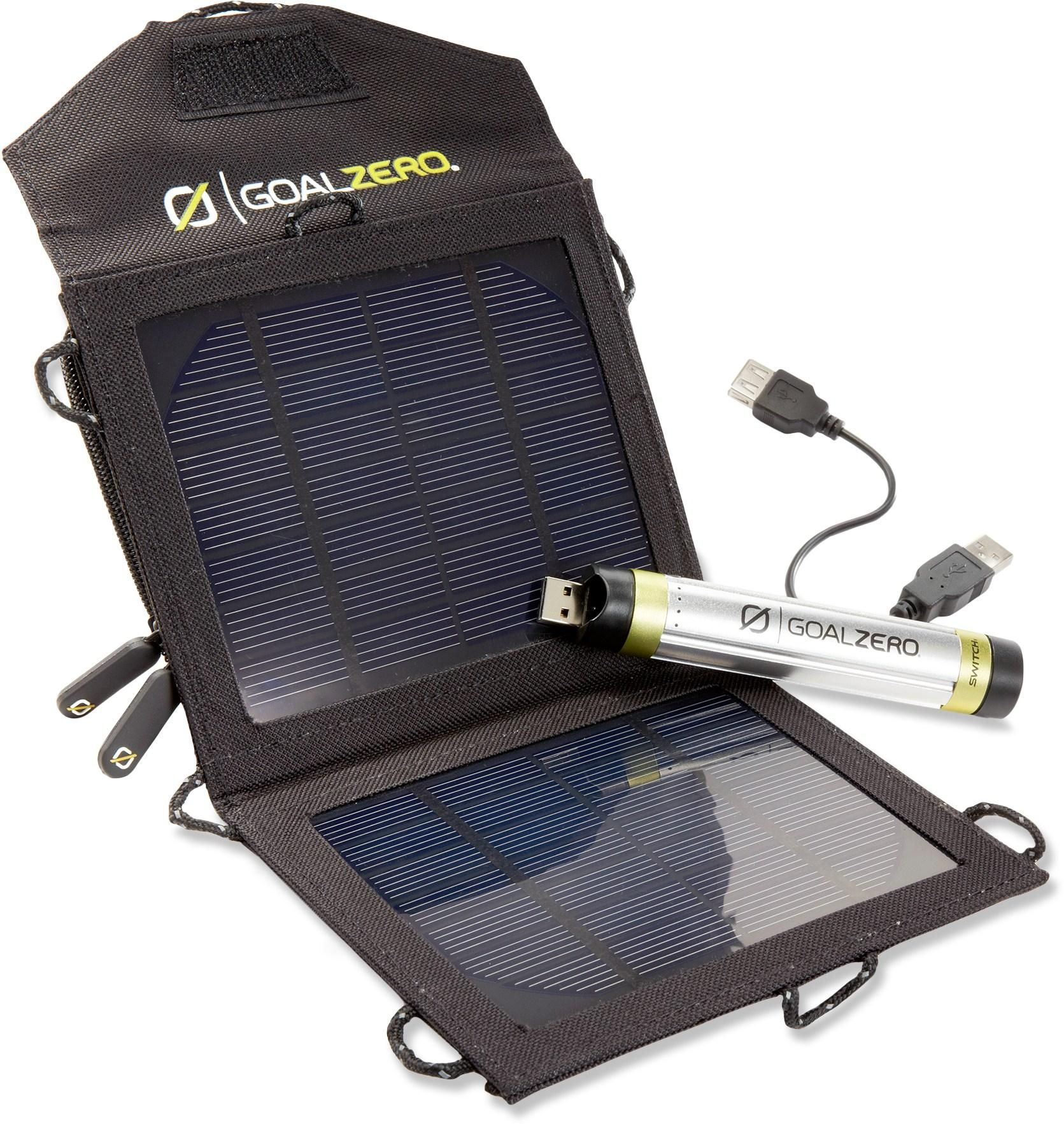 Goal Zero Switch 8 Solar Recharging Kit Rei Co Op Solar Charger Solar Panel Battery Solar Panels