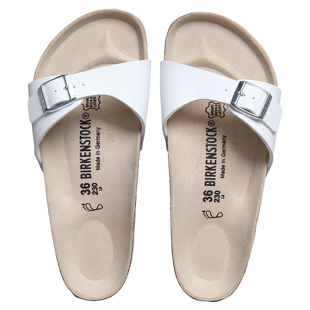 d9f925126427 Birkenstock Girls White  Madrid  Sandals at Childrensalon.com