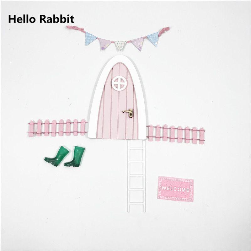 Hand Made pink Fairy tür großes geschenk für mädchen zimmer miniatur ...