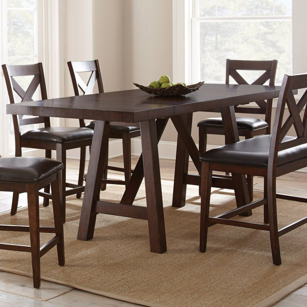 Steve Silver Company Clapton Counter Table 36 X 72 96 With 2 12 Leaves X 36 Read Mo Counter Height Dining Table Dining Table Wood Slab Dining Table